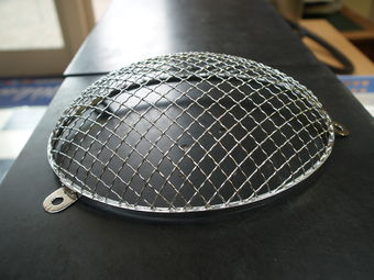 Chrome headlight grille 356