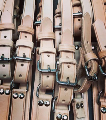 SET INTERIOR LUGGAGE STRAPS FOR PORSCHE 356