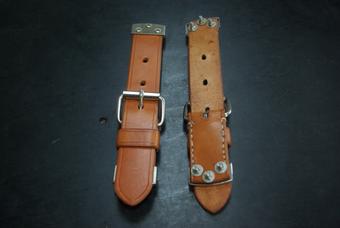 Set de cintos de couro para capô dianteiro 356.